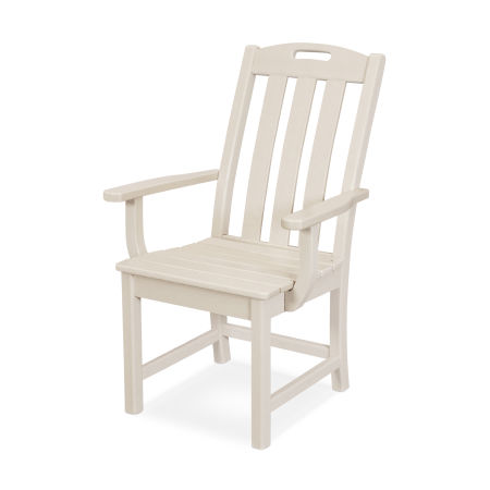 Yacht Club Dining Arm Chair in Sand Castle