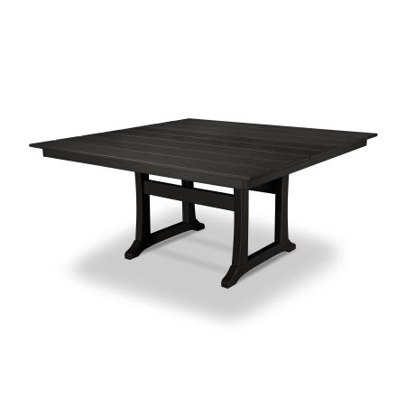 "Farmhouse 59"" Dining Table in Charcoal Black"