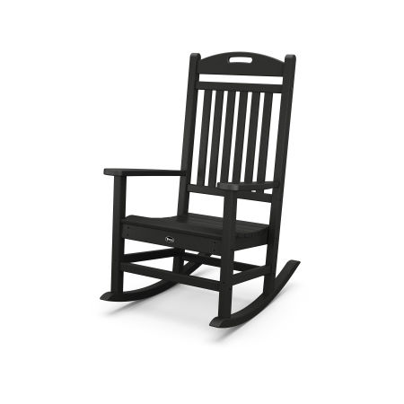 Yacht Club Rocking Chair in Charcoal Black