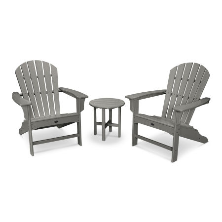 Yacht Club Shellback 3-Piece Adirondack Set in Stepping Stone
