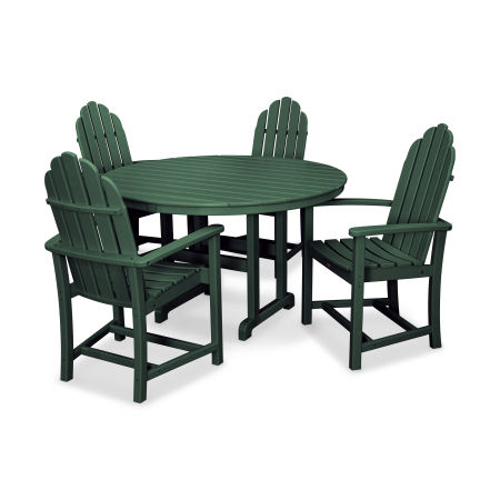 Cape Cod 5-Piece Dining Set in Rainforest Canopy