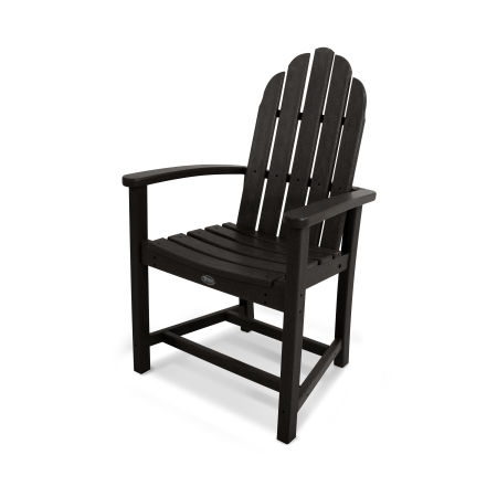 Cape Cod Adirondack Dining Chair in Charcoal Black