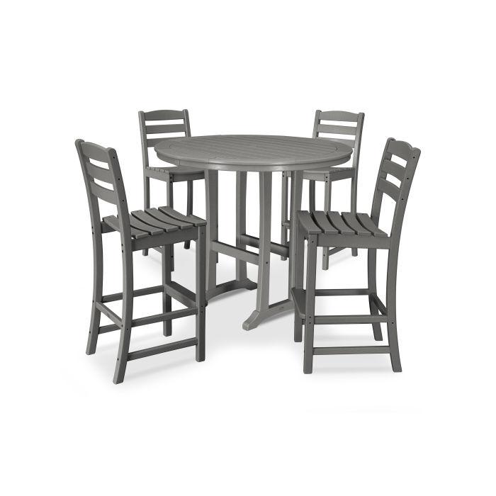La Casa Café 5 Piece Side Chair Bar Dining Set
