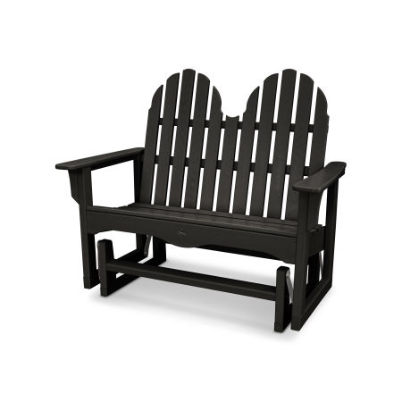 "Cape Cod Adirondack 48"" Glider in Charcoal Black"