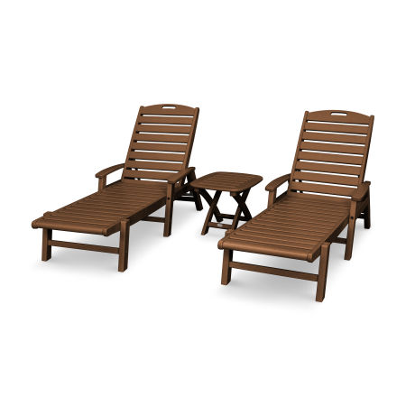 Yacht Club 3-Piece Chaise Set in Tree House