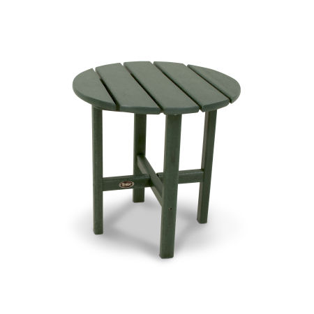 "Cape Cod Round 18"" Side Table in Rainforest Canopy"