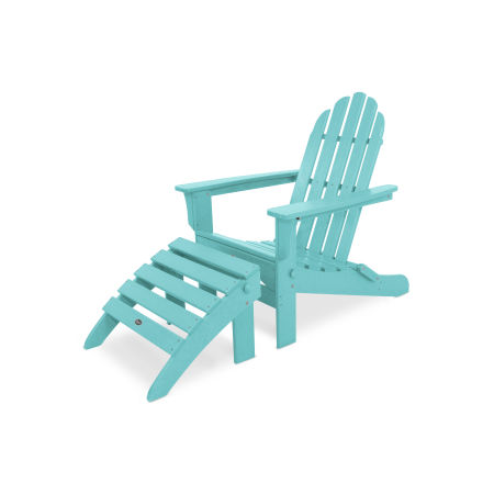 Cape Cod 2-Piece Folding Adirondack Seating Set in Aruba