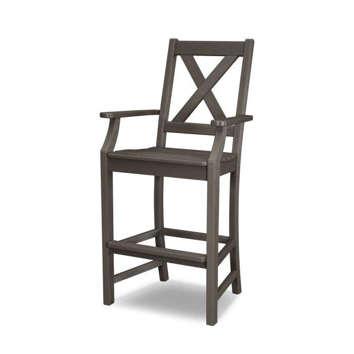 Braxton Bar Arm Chair in Vintage Finish