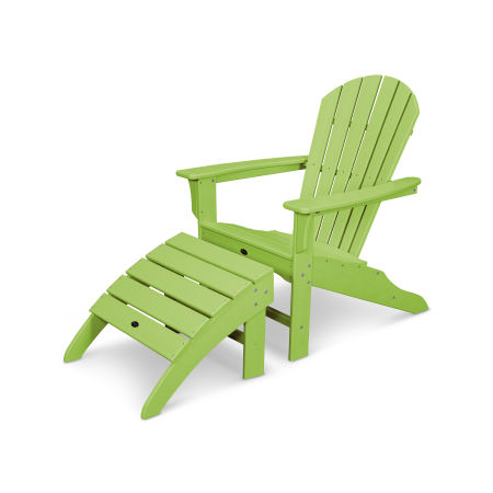 Yacht Club Shellback 2-Piece Adirondack Seating Set in Lime
