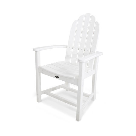 Cape Cod Adirondack Dining Chair in Classic White