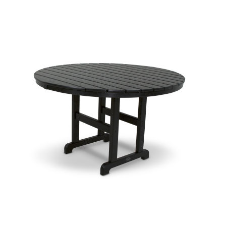 "Monterey Bay Round 48"" Dining Table in Charcoal Black"