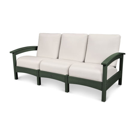 Rockport Club Sofa in Rainforest Canopy / Bird's Eye