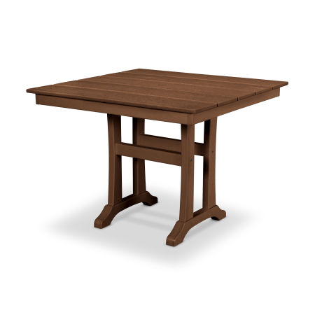 "Farmhouse Trestle 37"" Dining Table in Tree House"