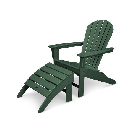 Yacht Club Shellback 2-Piece Adirondack Seating Set in Rainforest Canopy
