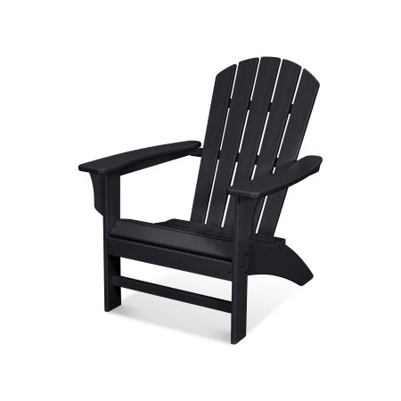 Yacht Club Adirondack Chair in Charcoal Black