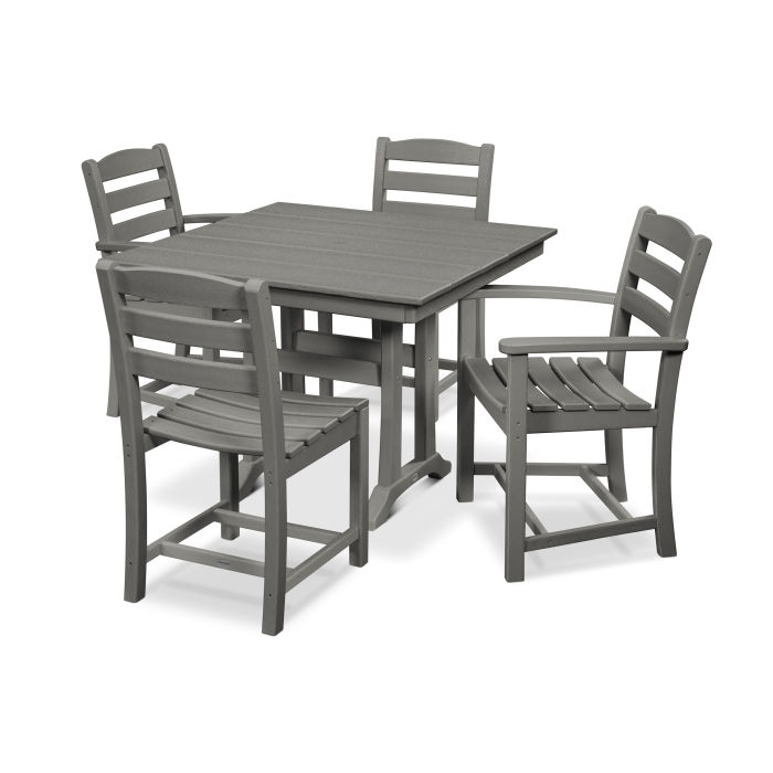 La Casa Café 5-Piece Farmhouse Trestle Dining Set