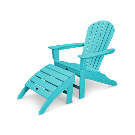 Yacht Club Shellback 2-Piece Adirondack Seating Set in Aruba