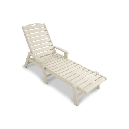 Yacht Club Chaise with Arms - Stackable
