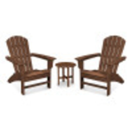 Yacht Club 3-Piece Adirondack Set in Tree House