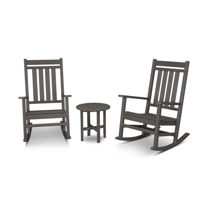 Estate 3-Piece Rocking Chair Set in Vintage Finish