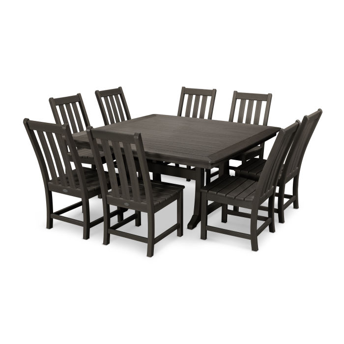 Vineyard 9-Piece Dining Set in Vintage Finish