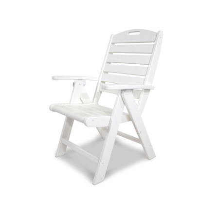 Yacht Club Highback Chair in Classic White