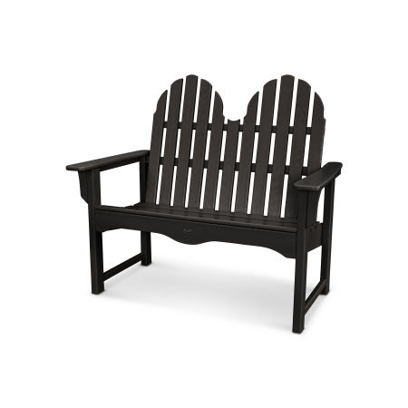 "Cape Cod Adirondack 48"" Bench in Charcoal Black"