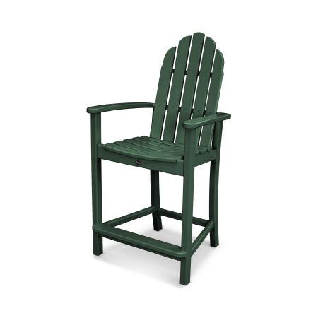Cape Cod Adirondack Counter Chair in Rainforest Canopy