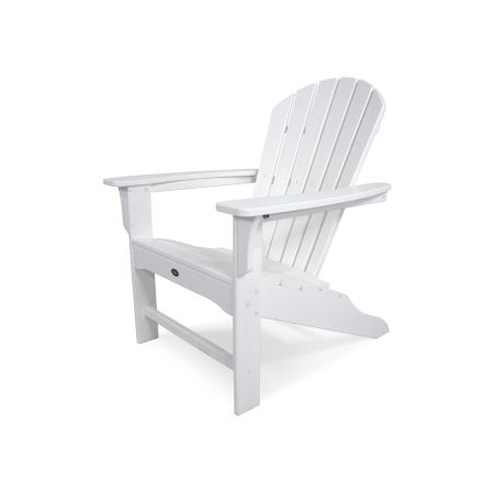 Yacht Club Shellback Adirondack Chair in Classic White