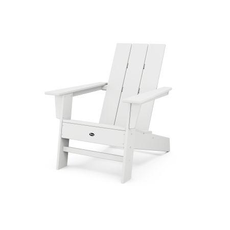 Eastport Modern Adirondack Chair in Classic White