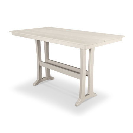 "Farmhouse 37"" x 72"" Bar Table in Sand Castle"