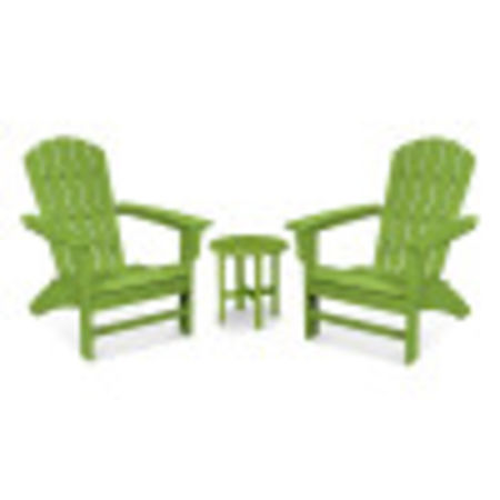 Yacht Club 3-Piece Adirondack Set in Lime