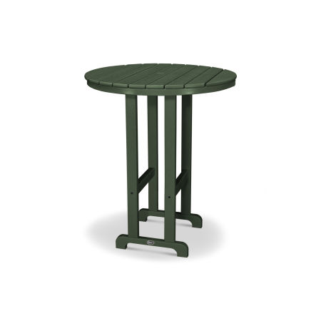 "Monterey Bay Round 36"" Bar Table in Rainforest Canopy"