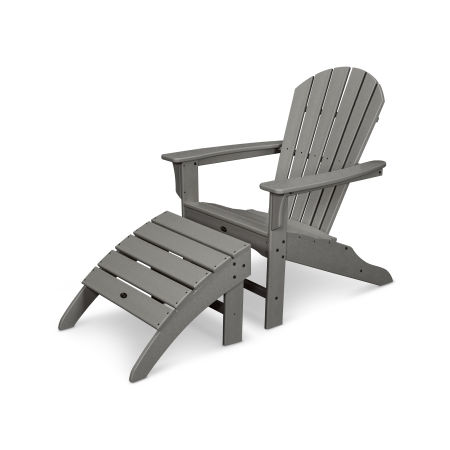 Yacht Club Shellback 2-Piece Adirondack Seating Set in Stepping Stone