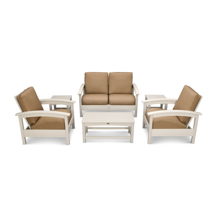 Rockport Club 6 Piece Deep Seating Conversation Set