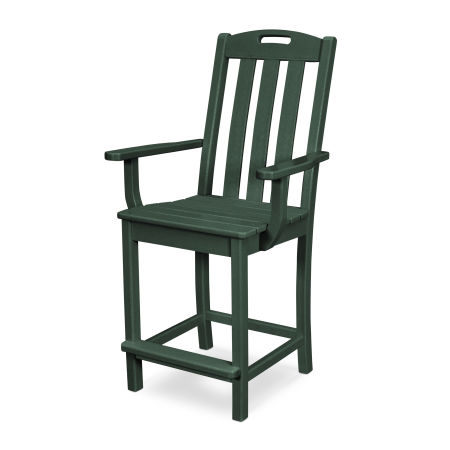 Yacht Club Counter Arm Chair in Rainforest Canopy