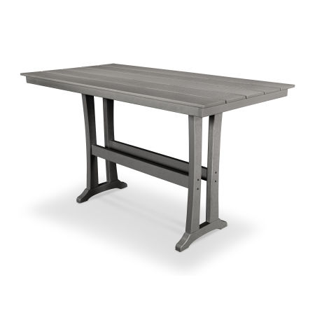 "Farmhouse 37"" x 72"" Bar Table in Stepping Stone"