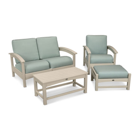 Rockport 4-Piece Deep Seating Conversation Group in Sand Castle / Spa
