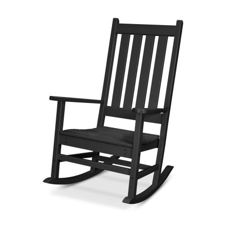 Cape Cod Porch Rocking Chair in Charcoal Black