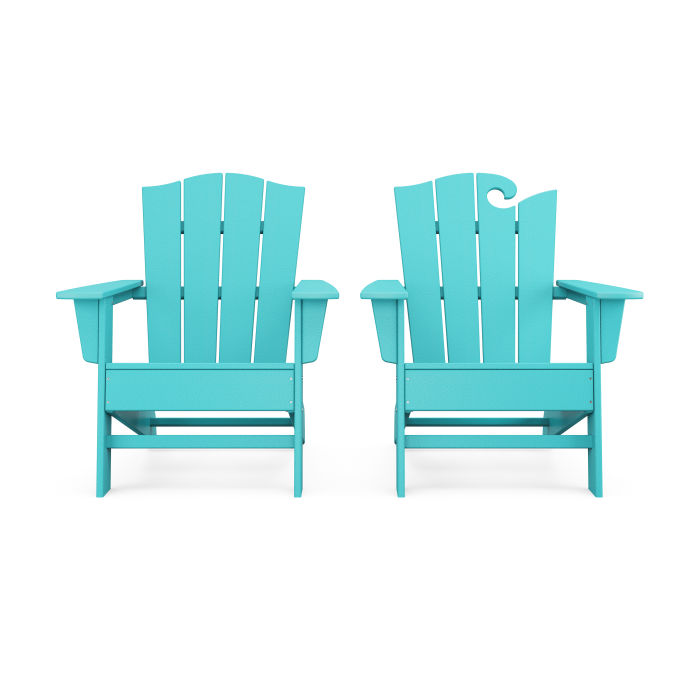 Wave 2-Piece Adirondack Chair Set with The Crest Chair