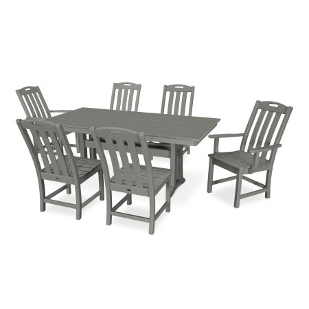 Yacht Club 7-Piece Farmhouse Dining Set in Stepping Stone