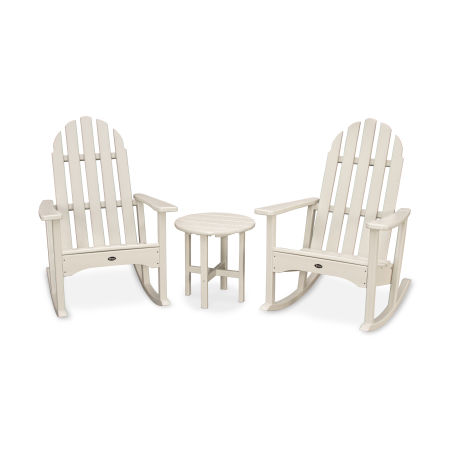 Cape Cod 3-Piece Adirondack Rocker Set in Sand Castle
