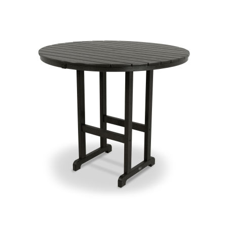 "Monterey Bay Round 48"" Bar Table in Charcoal Black"