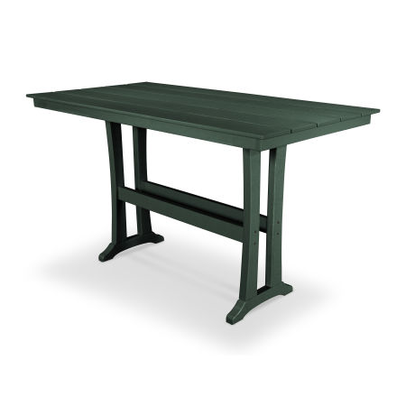 "Farmhouse 37"" x 72"" Bar Table in Rainforest Canopy"