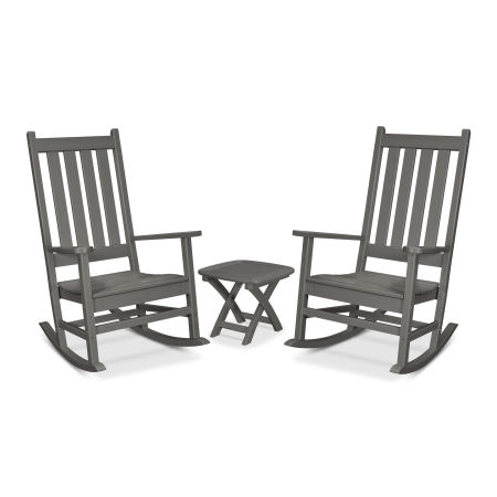 Cape Cod 3-Piece Porch Rocking Chair Set in Stepping Stone