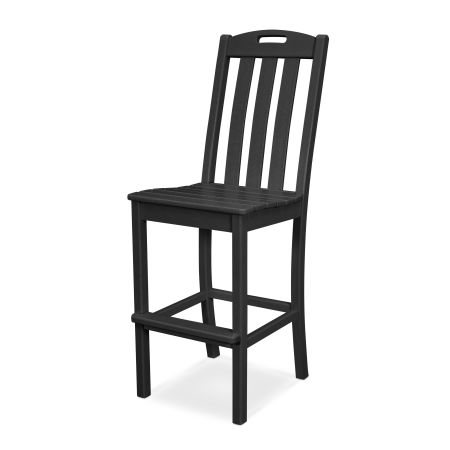 Yacht Club Bar Side Chair in Charcoal Black