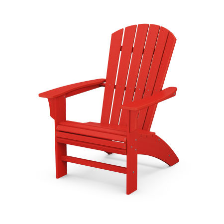 Yacht Club Curveback Adirondack Chair in Sunset Red