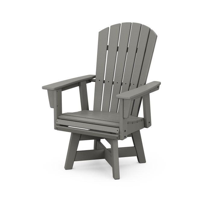 Nautical Curveback Adirondack Swivel Dining Chair