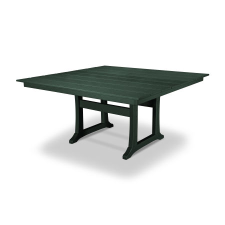 "Farmhouse 59"" Dining Table in Rainforest Canopy"