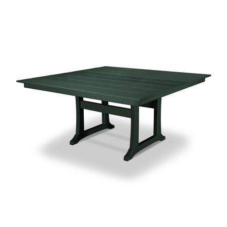"Farmhouse 59"" Dining Table in Rainforest Canopy"